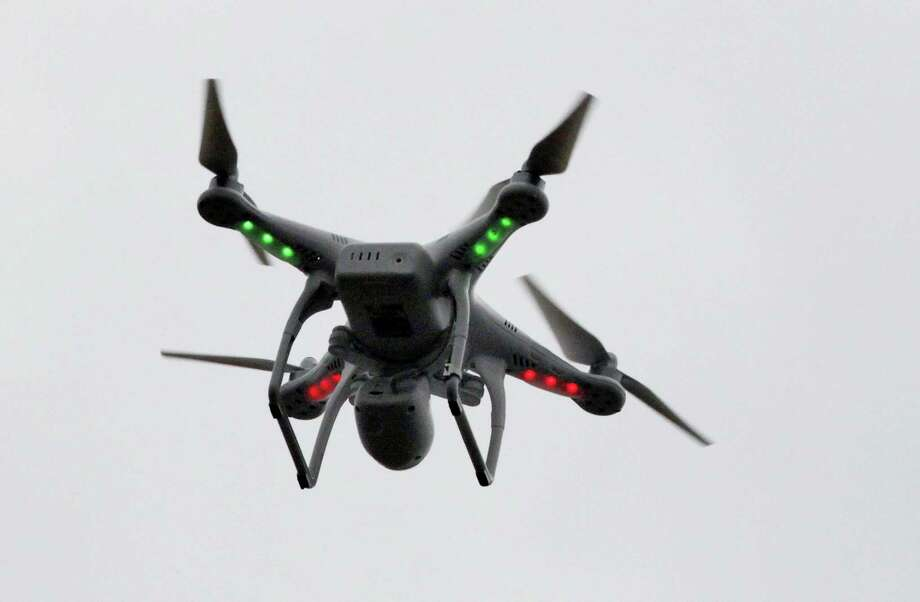 A drone flying in the air in New York. Photo: AP Photo — Mark Lennihan, File / AP
