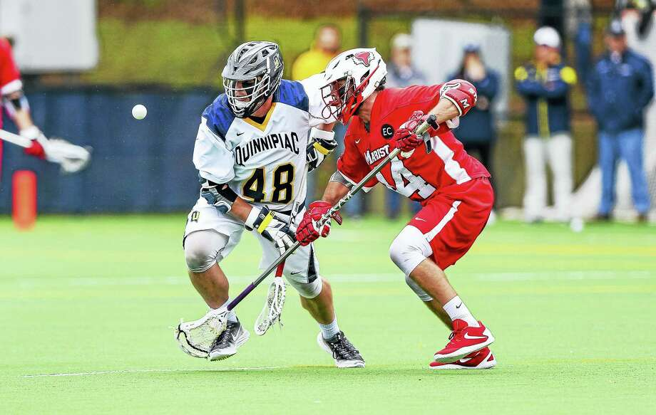 Milford's Will Vitelli has gone from a walk-on to one of the top faceoff specialists in the country. Vitelli and Quinnipiac play host to Hartford in an NCAA tournament preliminary game at 4 p.m. in Hamden. Photo: Quinnipiac Athletics   / John Hassett