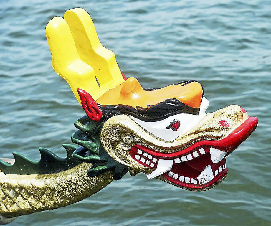A dragon boat race brought hundreds of people out to New Haven this weekend as part of the Food Truck Festival. Photo: Photo By Arnold Gold — New Haven Register