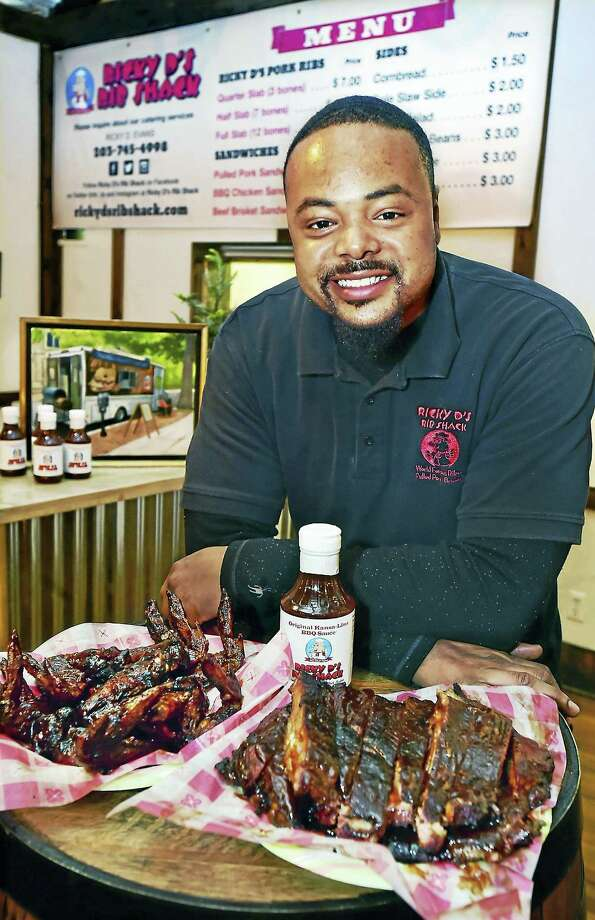 Ricky Evans, owner of Ricky D's Rib Shack and the BBQ Food Truck. Photo: Catherine Avalone — New Haven Register     / New Haven RegisterThe Middletown Press
