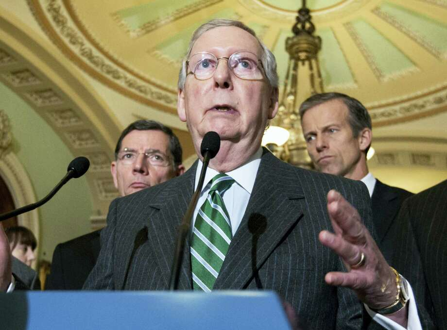 In this Feb. 9, 2016 photo, Senate Majority Leader Mitch McConnell of Ky. speaks on Capitol Hill in Washington. Photo: AP Photo/J. Scott Applewhite   / AP