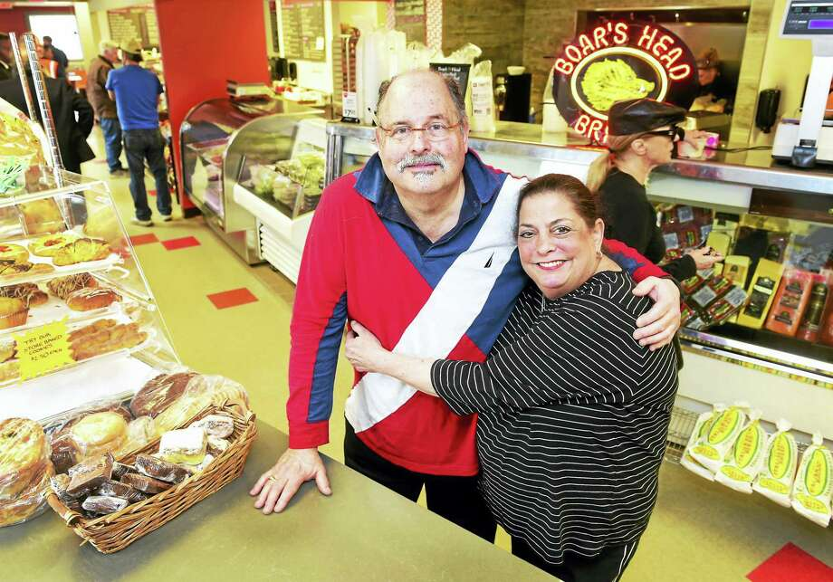 Alan Rice and sister Judy Rice Panagrossi, co-owners of Amity Meat Center on Lucy Street in Woodbridge. Photo: Peter Hvizdak — New Haven Register   / ©2016 Peter Hvizdak