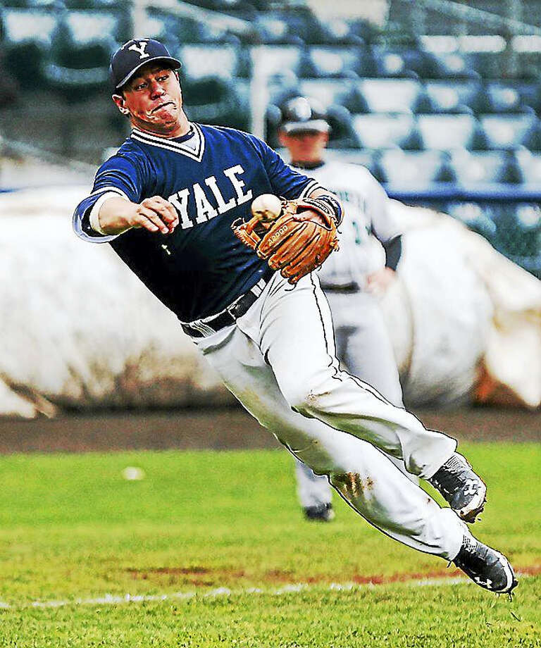 Yale's baseball team beat Darmouth, 5-4, this weekend for the Red Rolfe Division title. It is Yale's first such title since 1995. Photo: John Vanacore/The New Haven Register / (C)John H.Vanacore