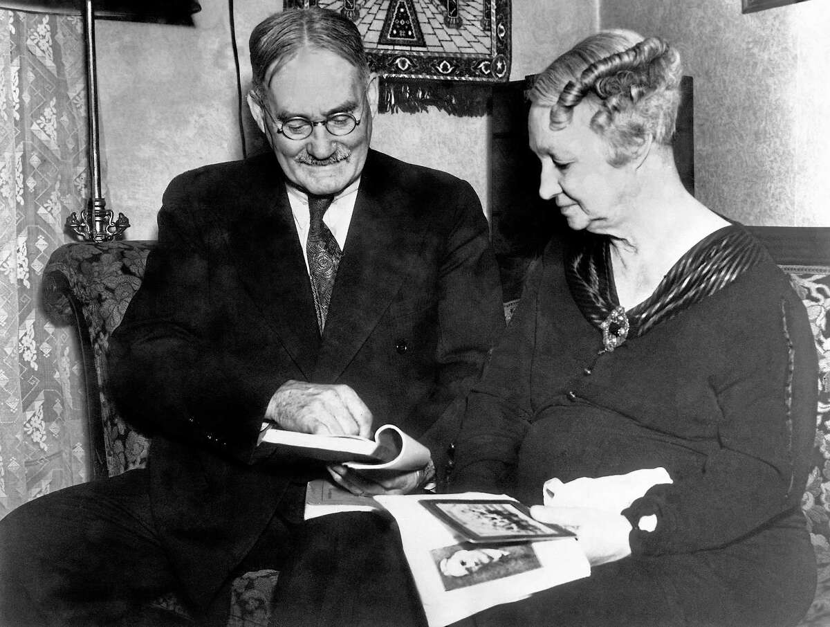 Dr. James Naismith and his wife Maude are shown in Lawrence, Kansas in 1936. Branford's Joe Vancisin, who was the coach of the last Yale men's basketball team to qualify for the NCAA tournament in 1962, recently recalled the time Naismith, who is credited with inventing the game of basketball, was a special guest at a New England tournament game while Vancisin was a junior at Bassick High in Bridgeport.