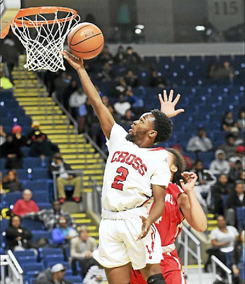 Wilbur Cross High School's boys basketball team crushed Bridgeport Central, 89-40, in the Martin Luther King Jr. Classic at Webster Bank Arena Monday night in Bridgeport. Photo: Peter Hvizdak — New Haven Register