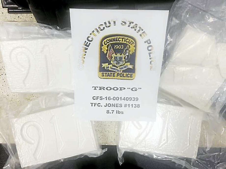 Packages of cocaine seized during traffic stop Photo: Photo Courtesy Of Connecticut State Police