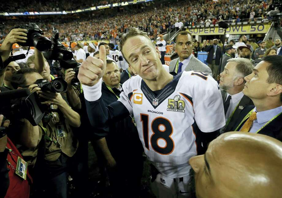 Register sports columnist Chip Malafronte isn't giving a thumbs up for Denver Broncos quarterback Peyton Manning's pitches for companies he's involved with immediately after the Super Bowl. Photo: David J. Phillip – The Associated Press   / AP