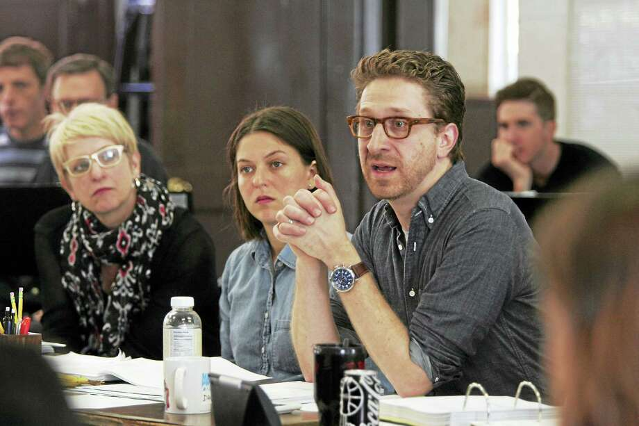 """Daniel Goldstein, right, in a Goodspeed table reading of """"Anything Goes."""" Photo: Photo Courtesy Of Diane Sobolewski — Goodspeed   / ?2016 Diane Sobolewski"""