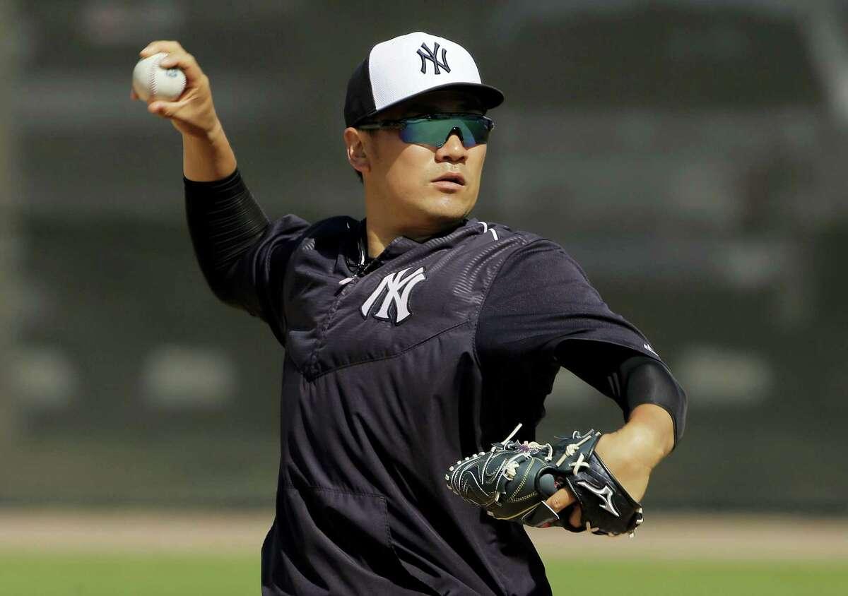 New York Yankees starting pitcher Masahiro Tanaka.