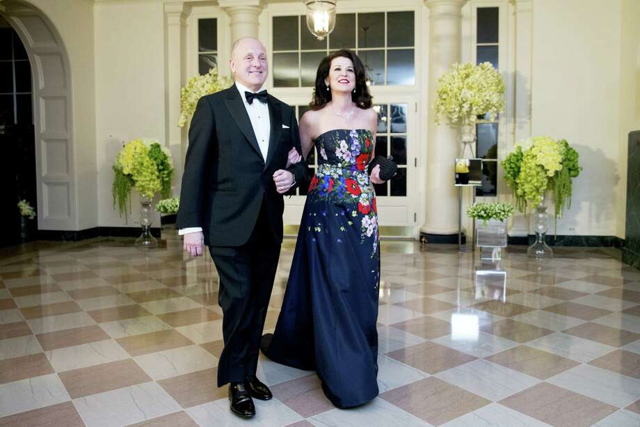 U.S. Ambassador to Canada Bruce Heyman and his wife Vicki arrive for a State Dinner for Canadian Prime Minister Justin Trudeau, Thursday, March 10, 2016, at the White House in Washington. (AP Photo/Andrew Harnik) Photo: AP / AP
