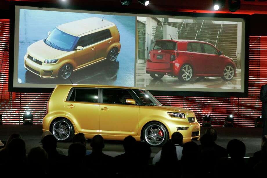 In this Feb. 8, 2007, photo, the 2008 Scion xB, foreground, is unveiled along with the xD, background right, during the Chicago Auto Show in Chicago. Photo: Charles Rex Arbogast — The Associated Press   / AP