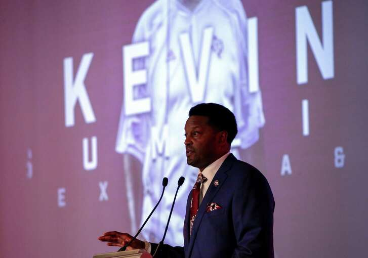 Texas A&M coach Kevin Sumlin speaks during the Southeastern Conference's annual media gathering on July 12, 2017, in Hoover, Ala.