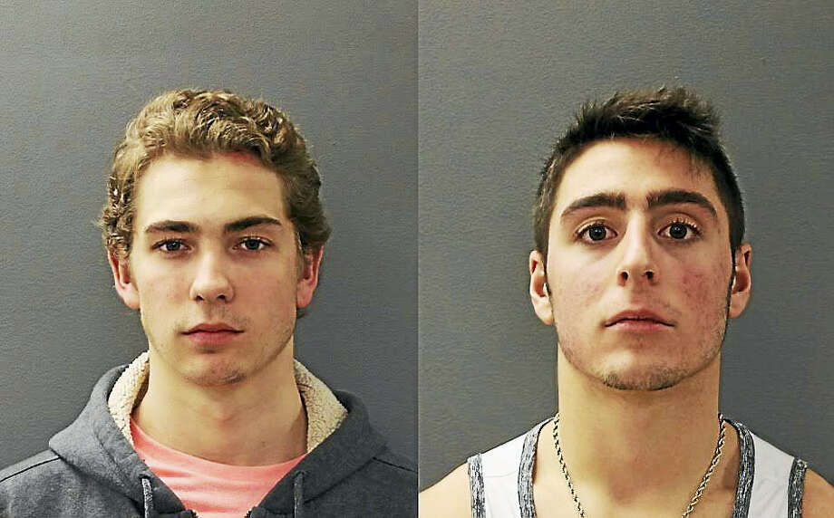 Left to right, Maxime Giesen and Robert S. Amonica Photo: Photos Courtesy Of Hamden Police Department