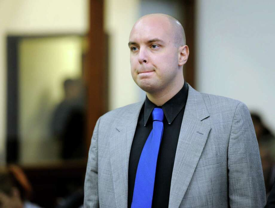 In this file photo, Matthew Mills, of Brooklyn, N.Y., appears before Superior Court Judge William Holden in Bridgeport Tuesday, Nov. 17, 2015. Photo: Autumn Driscoll/Hearst Connecticut Media Via AP, Pool / Pool Hearst Connecticut Media