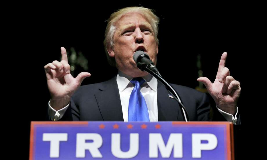 Republican presidential candidate Donald Trump speaks during a campaign event in Hartford. Photo: AP Photo — Charles Krupa, File / Copyright 2016 The Associated Press. All rights reserved. This material may not be published, broadcast, rewritten or redistribu