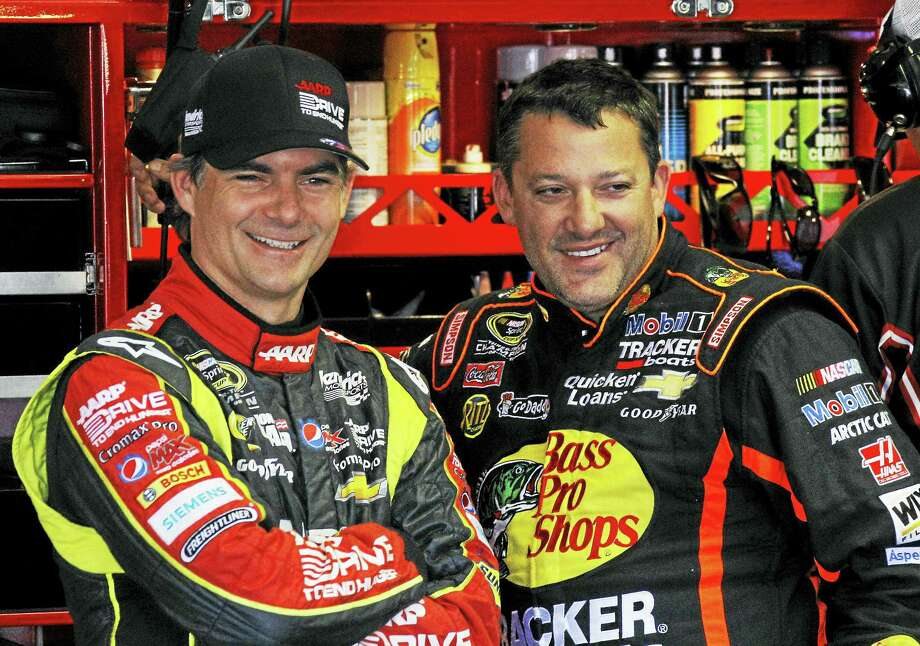 This year's NASCAR season will begin without two of its biggest stars — Jeff Gordon, left, who retired after last season and Tony Stewart, who fractured a vertebra. Photo: The Associated Press File Photo   / FR47333 AP