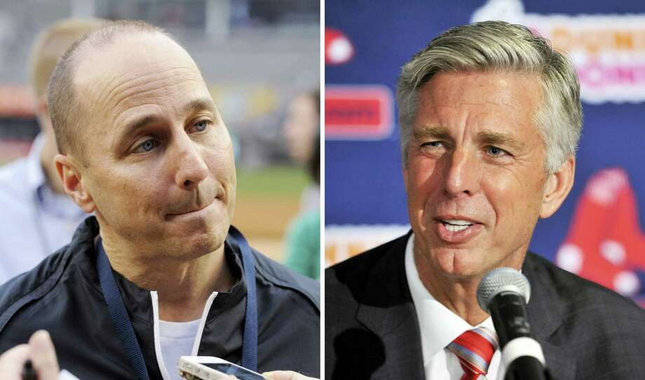 Yankees GM Brian Cashman, left, and Red Sox President of Baseball Operations Dave Dombrowski. Photo: The Associated Press File Photo   / AP