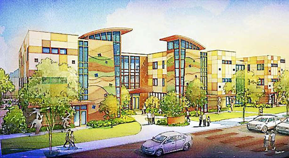 An architect's rendering of the planned 28,000-square-foot Ronald McDonald House planned for Howard Avenue in New Haven. Photo: CONTRIBUTED PHOTO