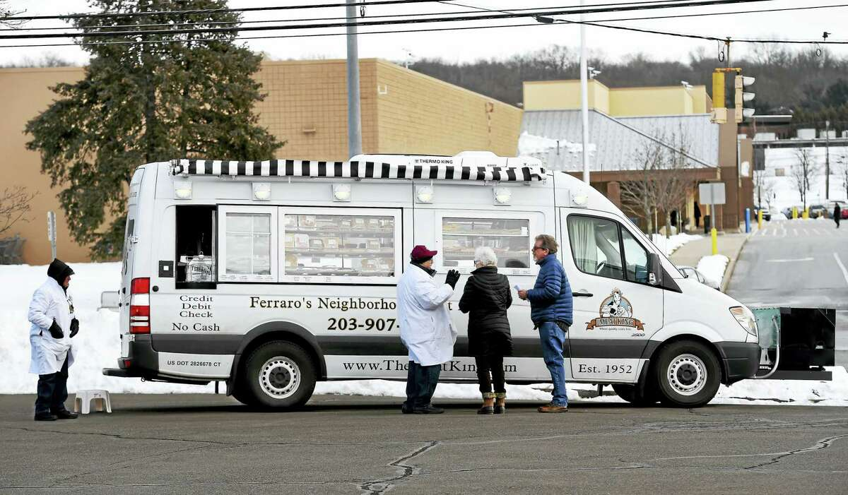The family owned Ferraro's Supermarket of New Haven's refrigerated truck in Wallingford, presently located at 805 North Colony Road in front of the Sky Zone Trampoline Park and across the street from Wal-Mart.