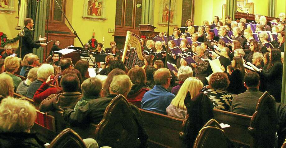 The Greater New Haven Community Chorus in concert from December. Photo: Contributed Photo