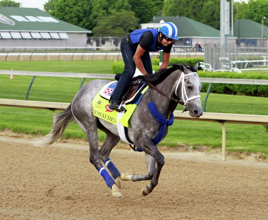 Kentucky Derby hopeful Mohaymen gallops at Churchill Downs in Louisville, Ky. last week. Dan Nowak likes the way he stalks and believes with a clean start he will be tough to beat. Photo: The Associated Press   / FR50389 AP