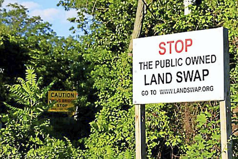 Haddam Land Swap sign from 2011 Photo: CTNewsJunkie File Photo