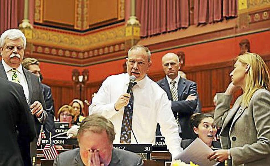 Legislative leaders at the end of the session Photo: Christine Stuart — CT News Junkie