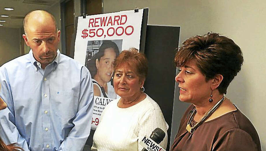 Lisa Calvo's family wants information about her disappearance. From left are her brother, Sal Calvo, her mother, Diane Calvo-Poplawski, and her sister, Robin Morrell. Photo: ED STANNARD — NEW HAVEN REGISTER