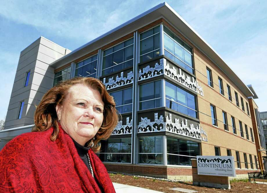 Continuum of Care President and CEO Patti L. Walker in front of their new headquarters at 19 Legion Ave. in New Haven Wednesday, April 6, 2016. Photo: Peter Hvizdak — New Haven Register   / ©2016 Peter Hvizdak