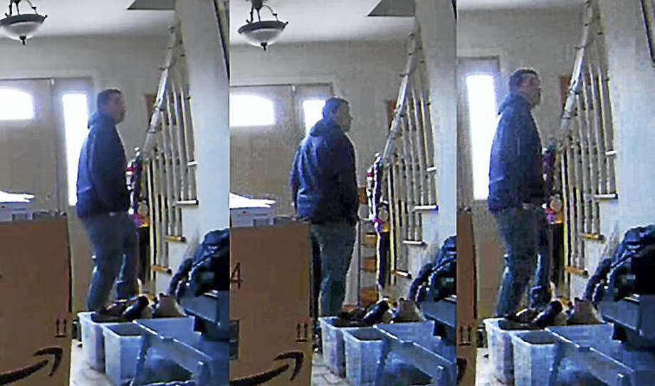 Police are looking to identify this man who they say forced entry into an Oxford residence and stole unknown items from a bedroom. Photo: Photo Courtesy Of Connecticut State Police