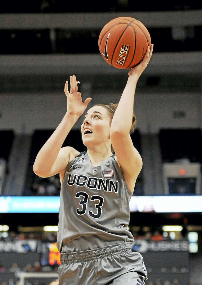 UConn's Katie Lou Samuelson has been trying to add a few new dimensions to her game besides just perimeter shooting. Photo: Jessica Hill — The Associated Press File Photo   / AP2015