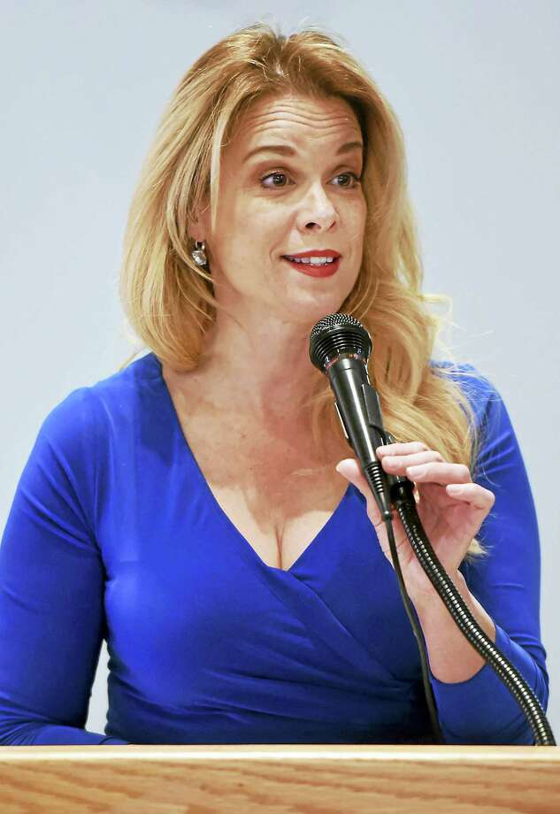 Actress Chase Masterson speaks about the Pop Culture Hero Coalition Thursday in West Haven. Photo: Peter Hvizdak — New Haven Register   / ©2016 Peter Hvizdak