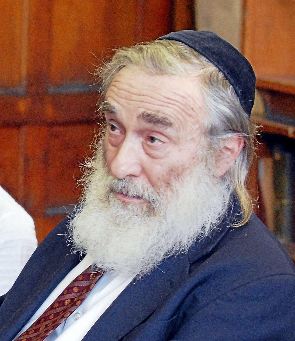 Rabbi Daniel Greer at the Yeshiva of New Haven.