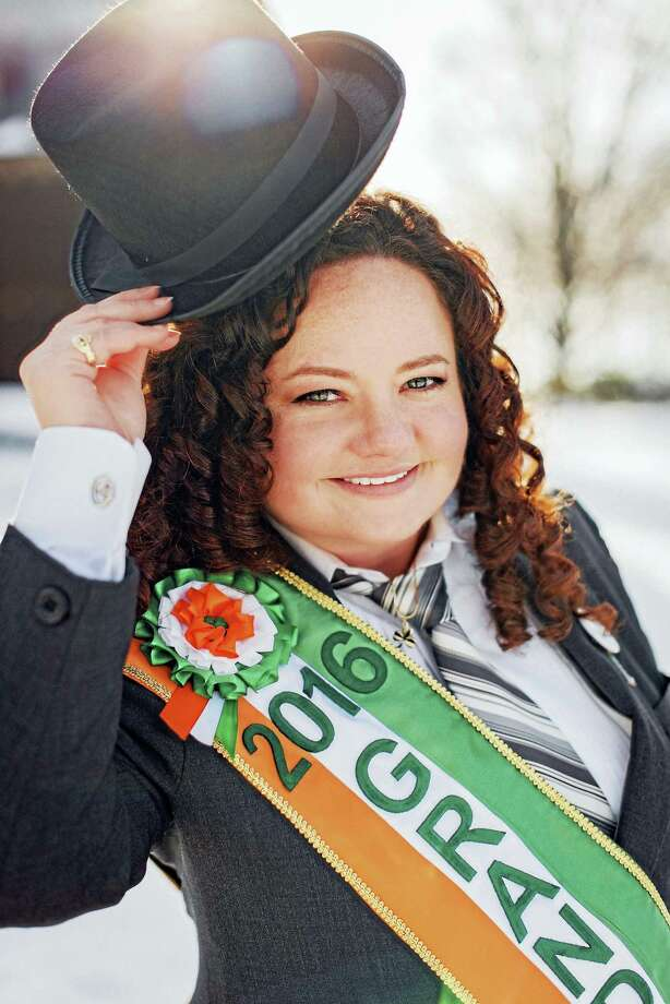 2016 Greater New Haven St. Patrick's Day Parade Grand Marshal Colleen Hines. Photo: (Contributed) / Jessica Hutchinson