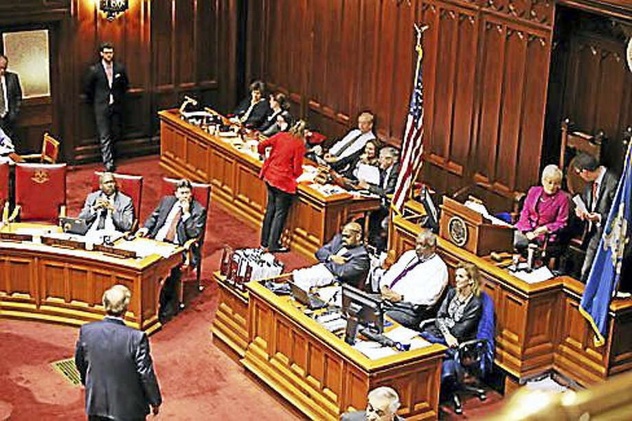 Senate floor after midnight Photo: Christine Stuart Photo