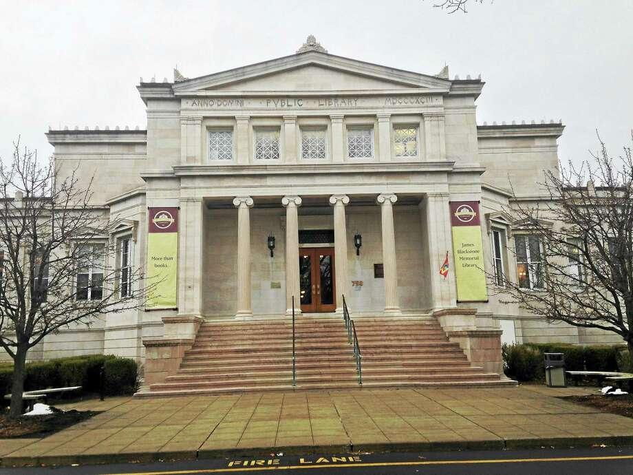 The James Blackstone Memorial Library on Main Street in Branford. Photo: Juliemar Ortiz — New Haven Register