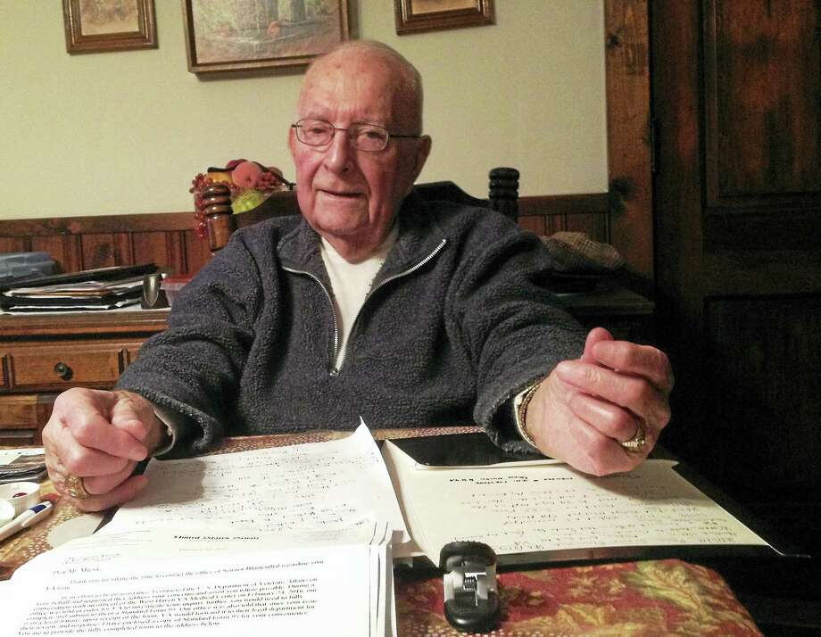 Derby veteran Stan Muzyk, 86, photographed in his home. (Mark Zaretsky - New Haven Register) Photo: Journal Register Co.