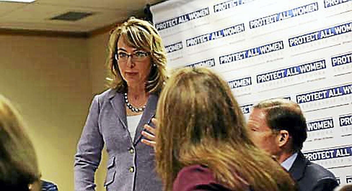 Gabby Gifford during a visit to Connecticut in 2014
