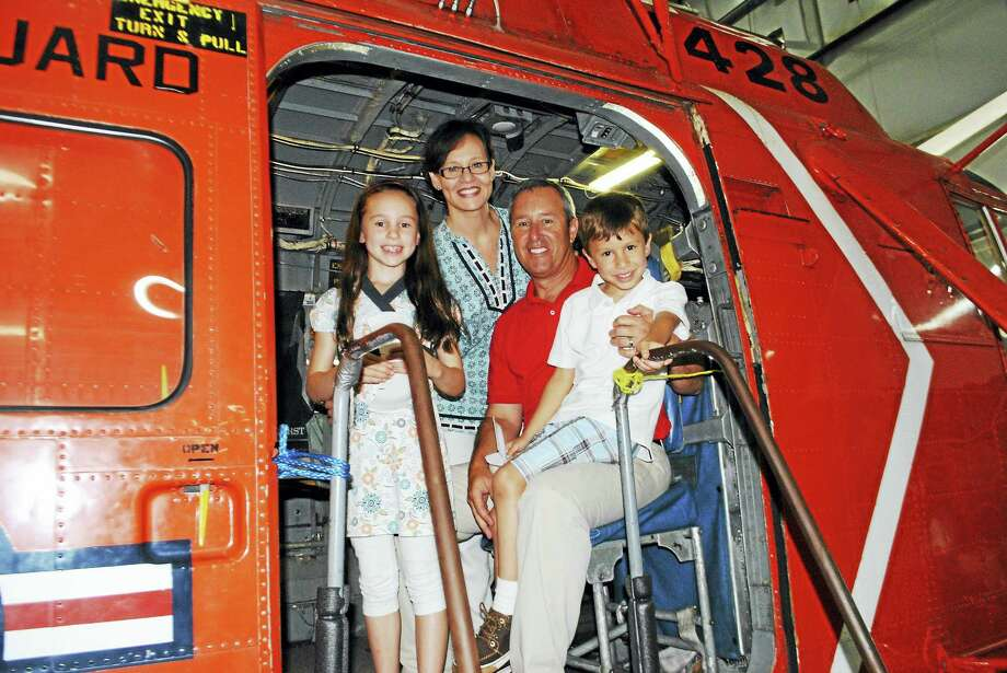 A family enjoyes a previous Open Cockpit Day. Photo: NEw England Air Museum