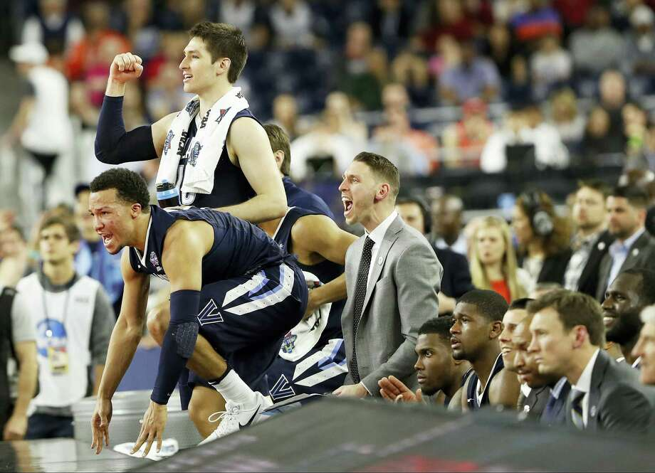 The Villanova bench reacts during the second half of their win over Oklahoma on Saturday. Photo: Eric Gay — The Associated Press   / AP
