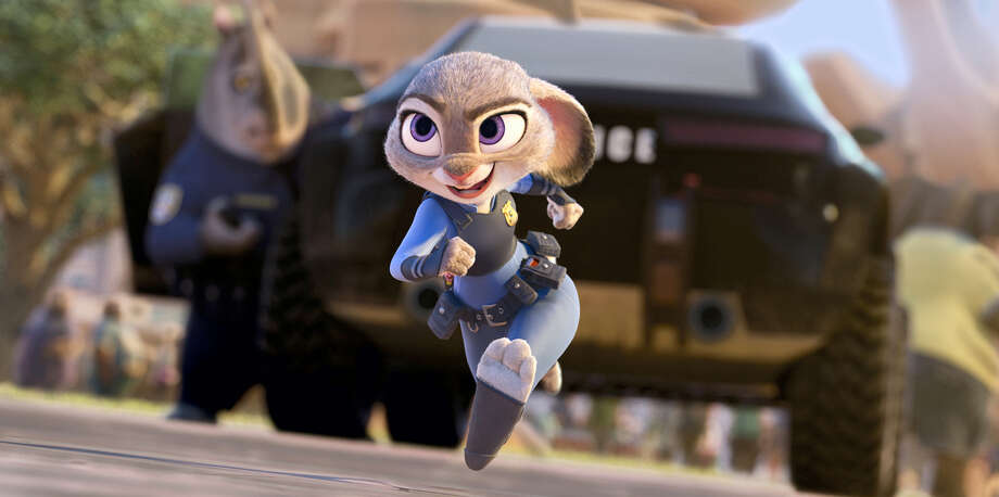 """This image released by Disney shows Judy Hopps, voiced by Ginnifer Goodwin, in a scene from the animated film, """"Zootopia."""" Photo: Disney Via AP   / Disney"""