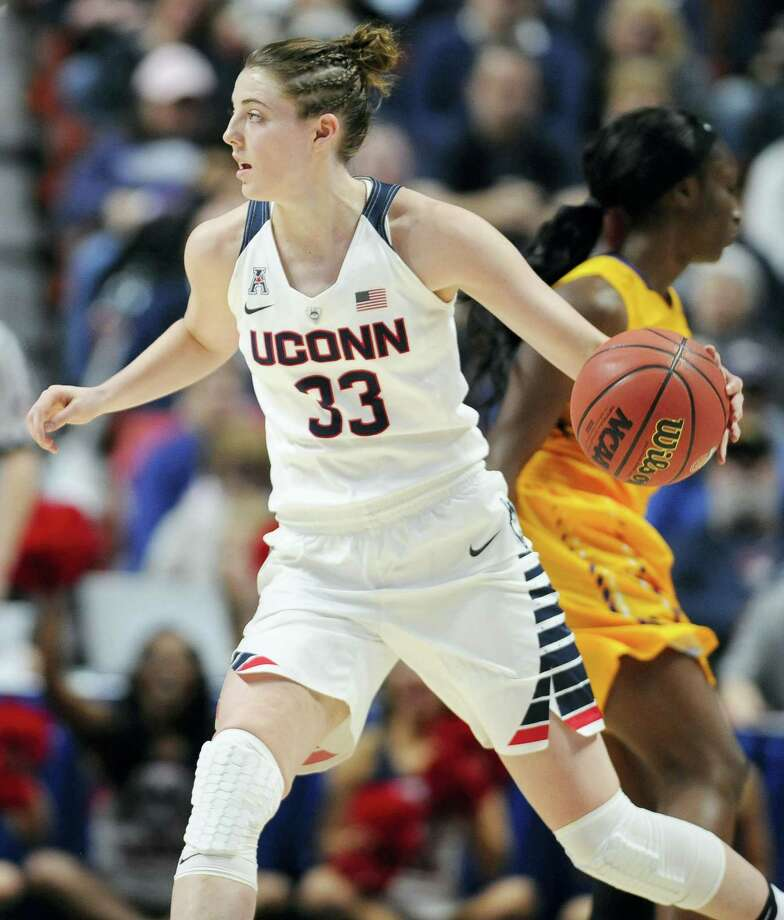 UConn's Katie Lou Samuelson has made 62 3-pointers this season. Photo: Jessica Hill — The Associated Press   / AP2016