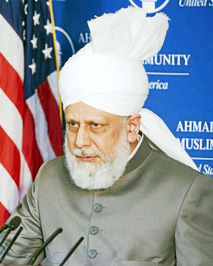 Holiness Mirza Masroor Ahmad, Khalifa of Islam. Photo: Journal Register Co.
