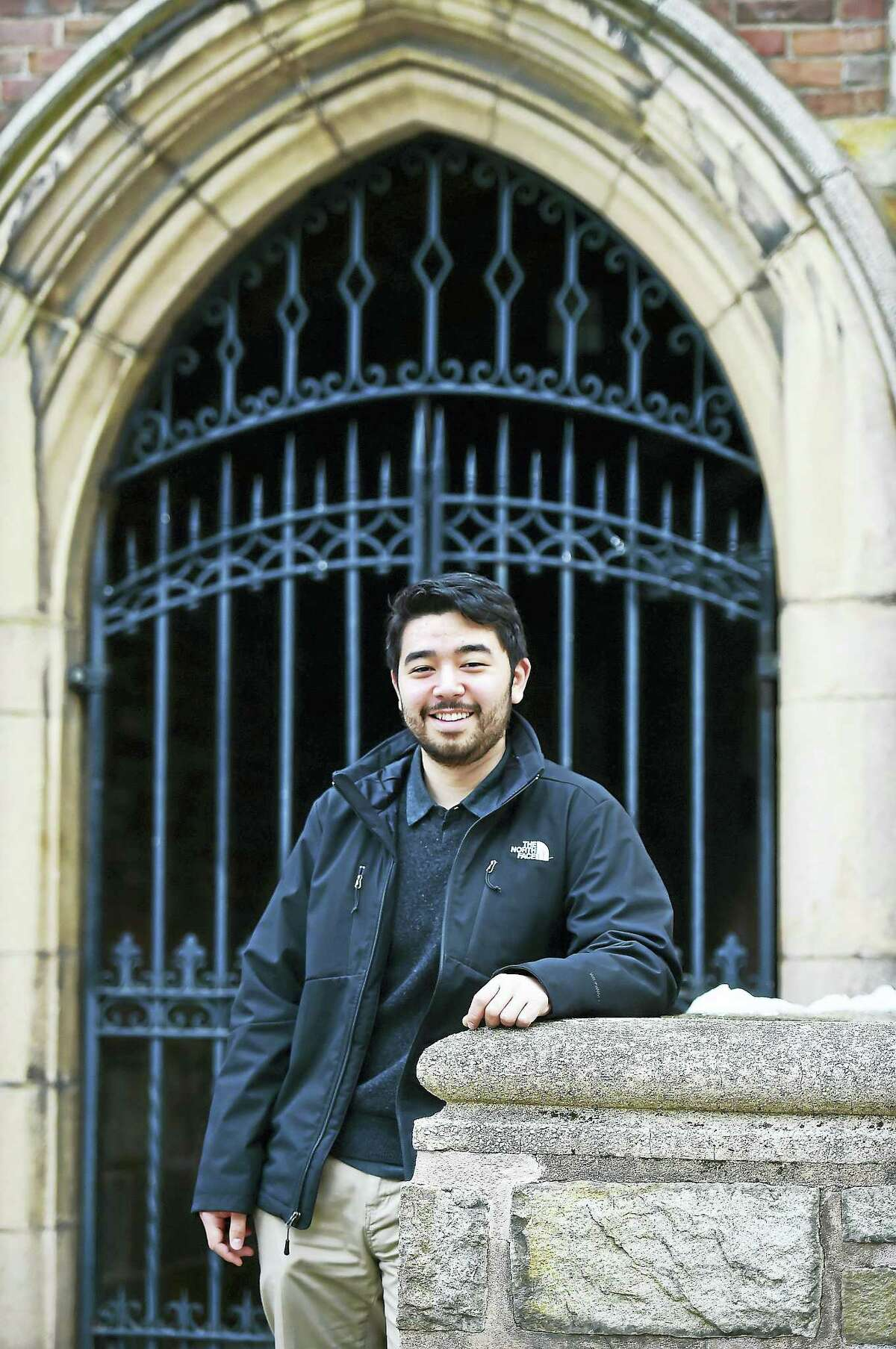 Robert Henderson photographed on York Street in New Haven, Tuesday, January 26, 2016, attends Yale University through the Warrior-Scholar Project.