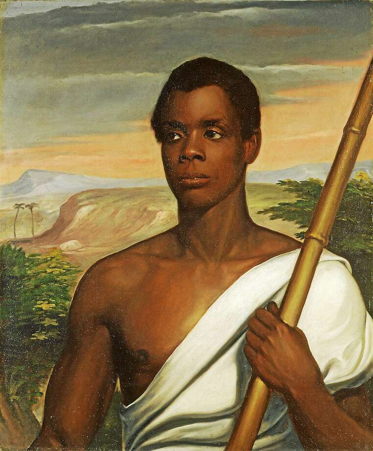 "Nathaniel Jocelyn's 1839 portrait, ""Cinque,"" depicting the leader of the Amistad mutiny. Amistad Committee members prefer using the name Sengbe Pieh. Photo: New Haven Museum Collection"