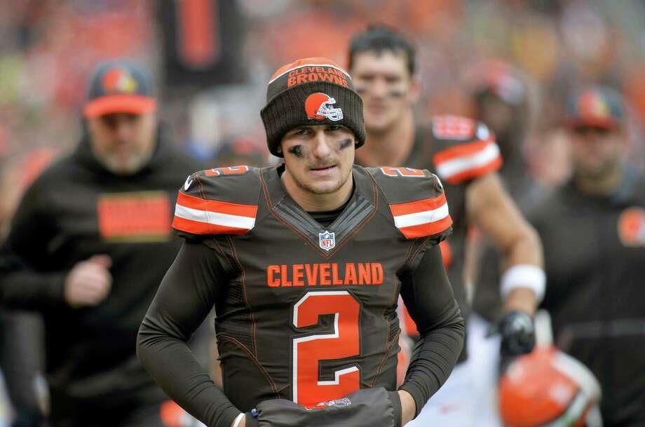 Browns quarterback Johnny Manziel. Photo: The Associated Press File Photo   / FR25496 AP