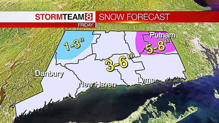 Friday morning's snow forecast Photo: Photo Via WXEdge.com