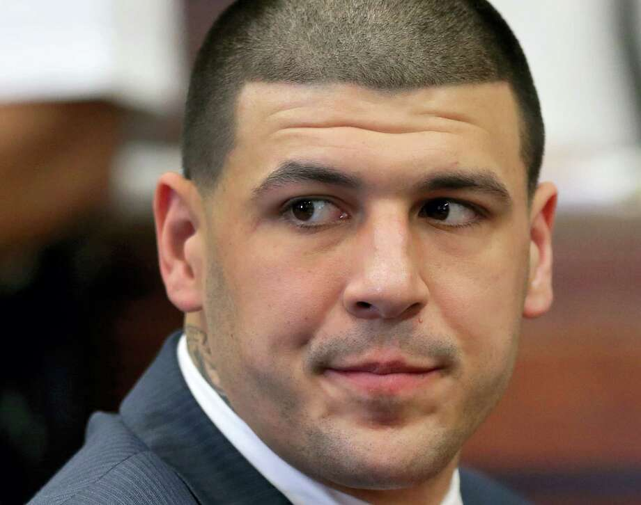 An anonymous tipster who exchanged letters with Aaron Hernandez, above, before his murder trial isn't credible, according to a Fall River Superior Court judge who denied Hernandez's lawyers' motion to further examine the tipster's claims. Photo: The Associated Press File Photo   / POOL The Boston Globe