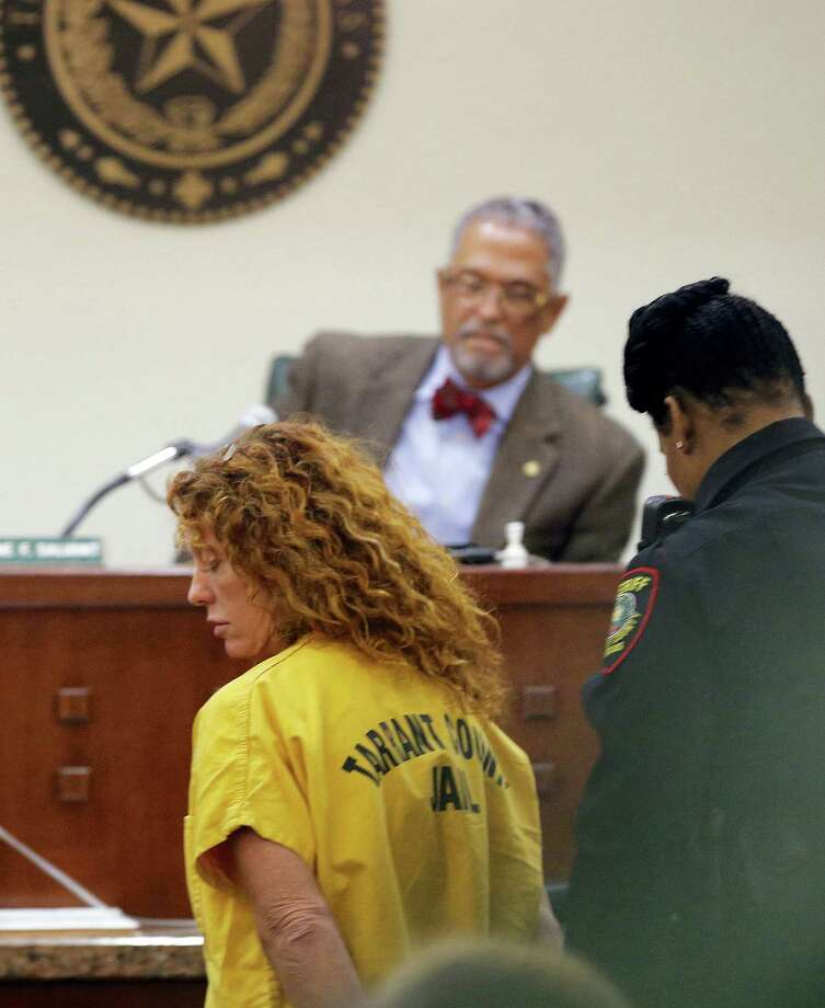 """Tonya Couch appears before state District Judge Wayne Salvant in Fort Worth, Texas, Friday, Jan. 8, 2016. The mother of Ethan Couch, who used an """"affluenza"""" defense after killing people in a drunken-driving wreck appeared in court on a charge of hindering the apprehension of a felon. Photo: Rodger Mallison/Star-Telegram Via AP, Pool / Pool Star-Telegram"""