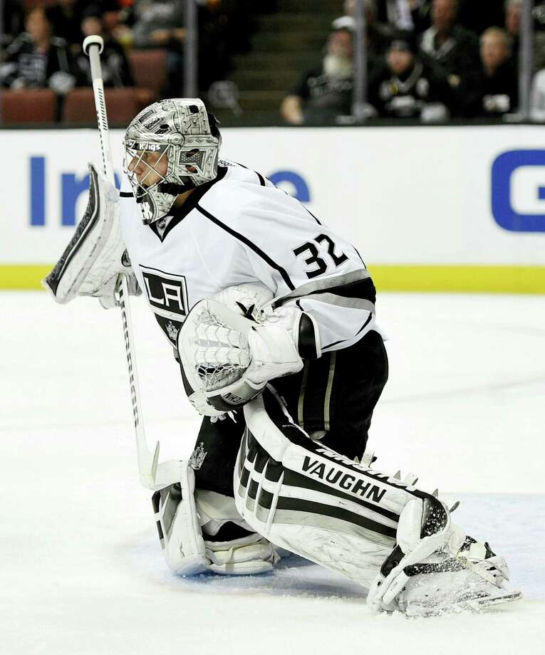 Los Angeles Kings goalie Jonathan Quick of Hamden was selected to compete for the U.S. team at the World Cup of Hockey Sept. 17 - Oct. 1 in Toronto. Photo: The Associated Press   / FR170752 AP